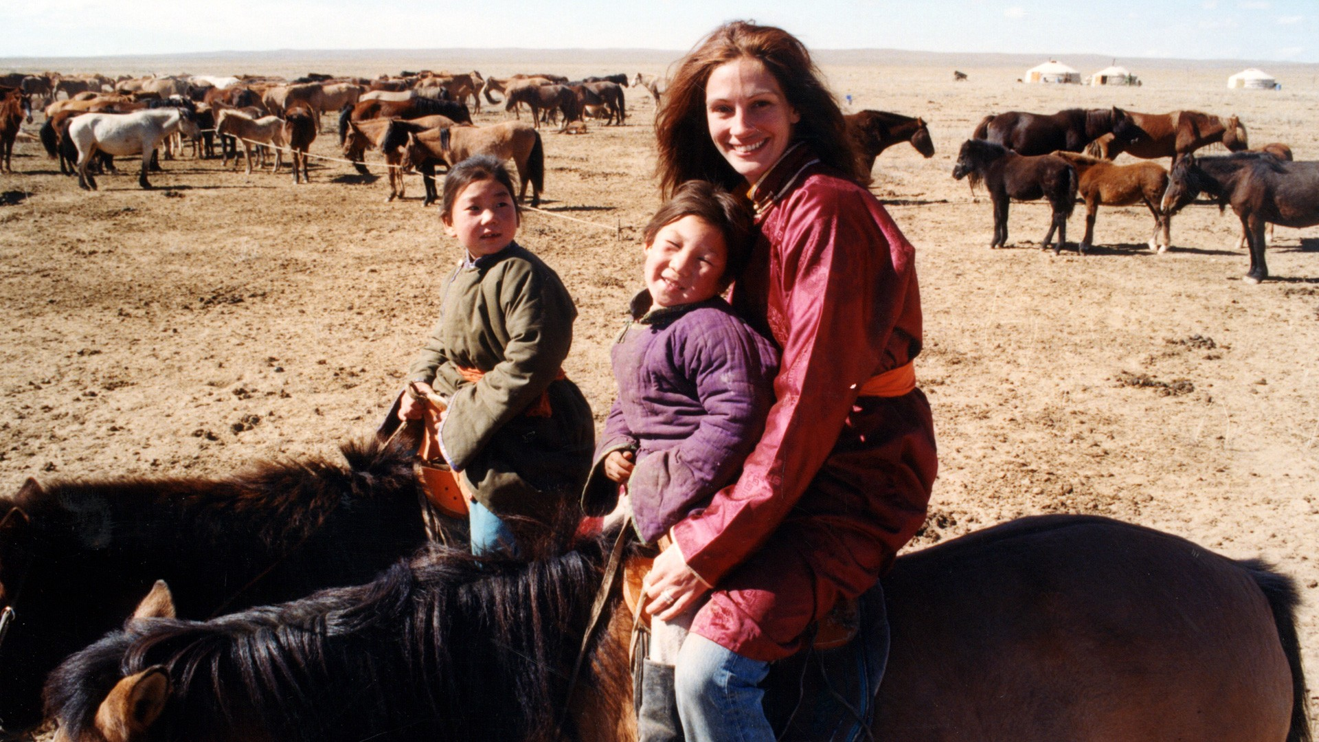 Internationally acclaimed superstar actress Julia Roberts visited Mongolia in 1999