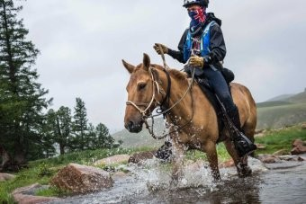 PHOTO: Riders take on challenging terrain in rapidly changing temperatures over 1,000km. (Mongol Derby: Richard Dunwoody)