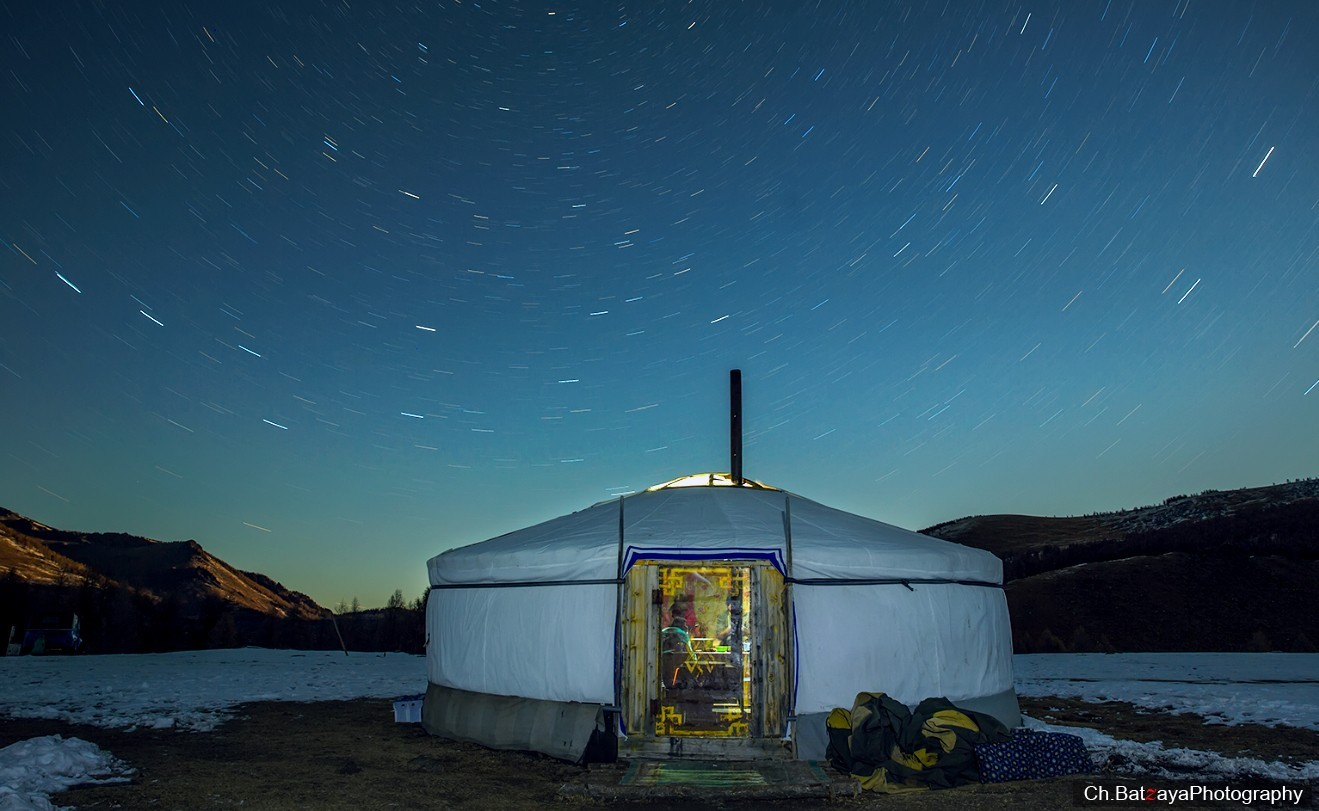 """Ger"", traditional dwelling of nomads. Photo credit: Mongolian photographer Ch.Batzaya"