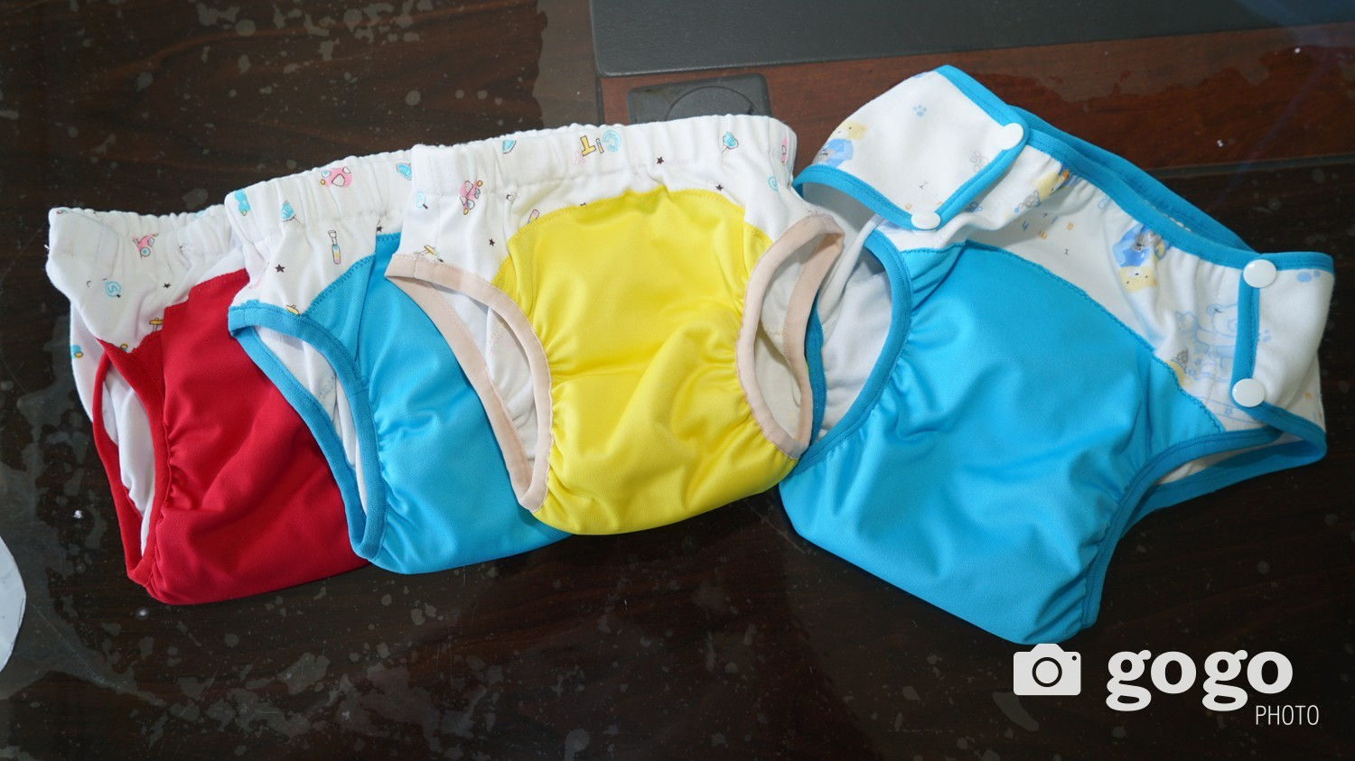 Potty pants. It is like a panty and easy to pull down and up for toddlers.