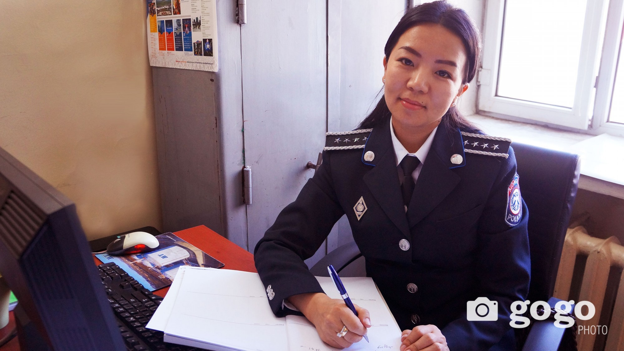 A.Munhsuvd is a senior police inspector of Chingeltei district. She wants more peace in Mongolia and she wants every citizens to know their rights and duties.