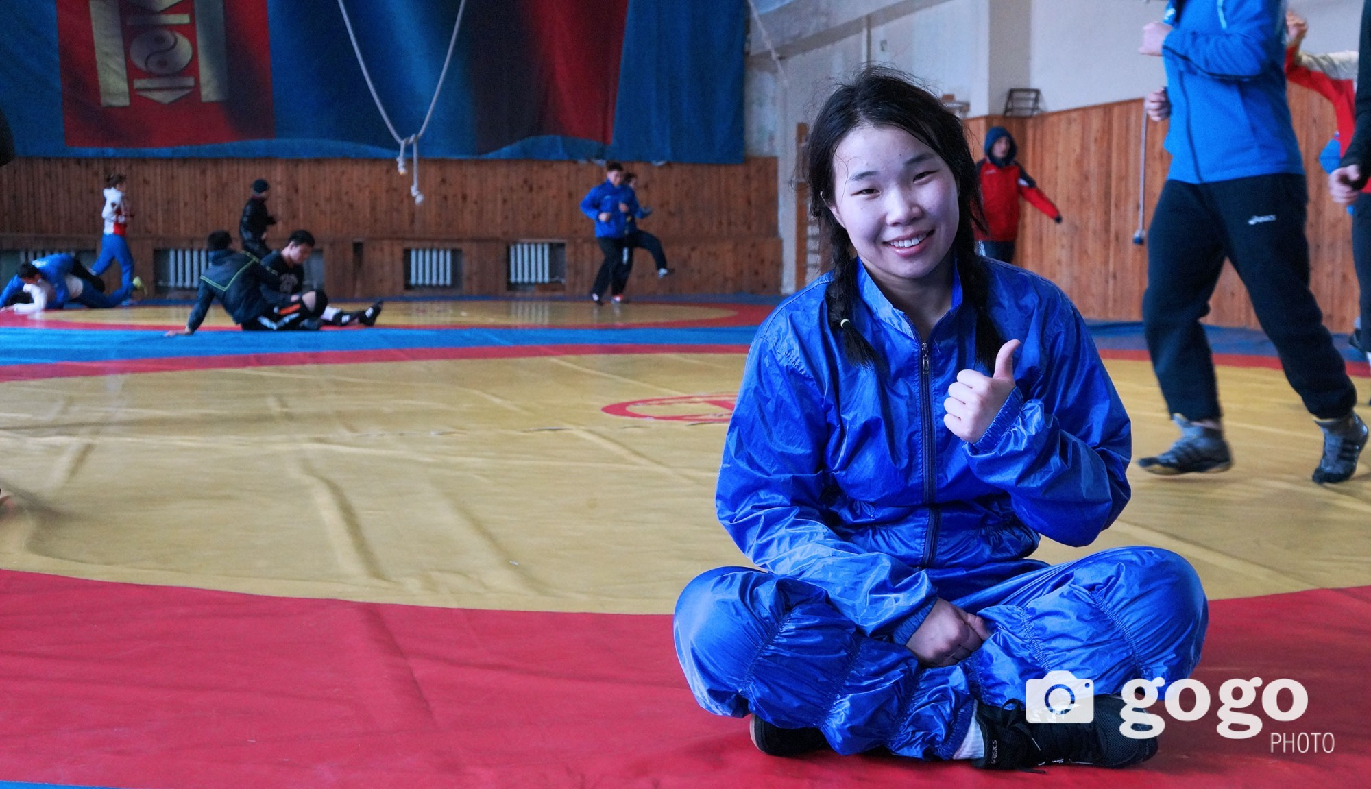 E.Saranhuhuu is an International Master of free-style wrestling. She has trained for six years. A woman, who always inspired by his son, wants to show great success in sports.