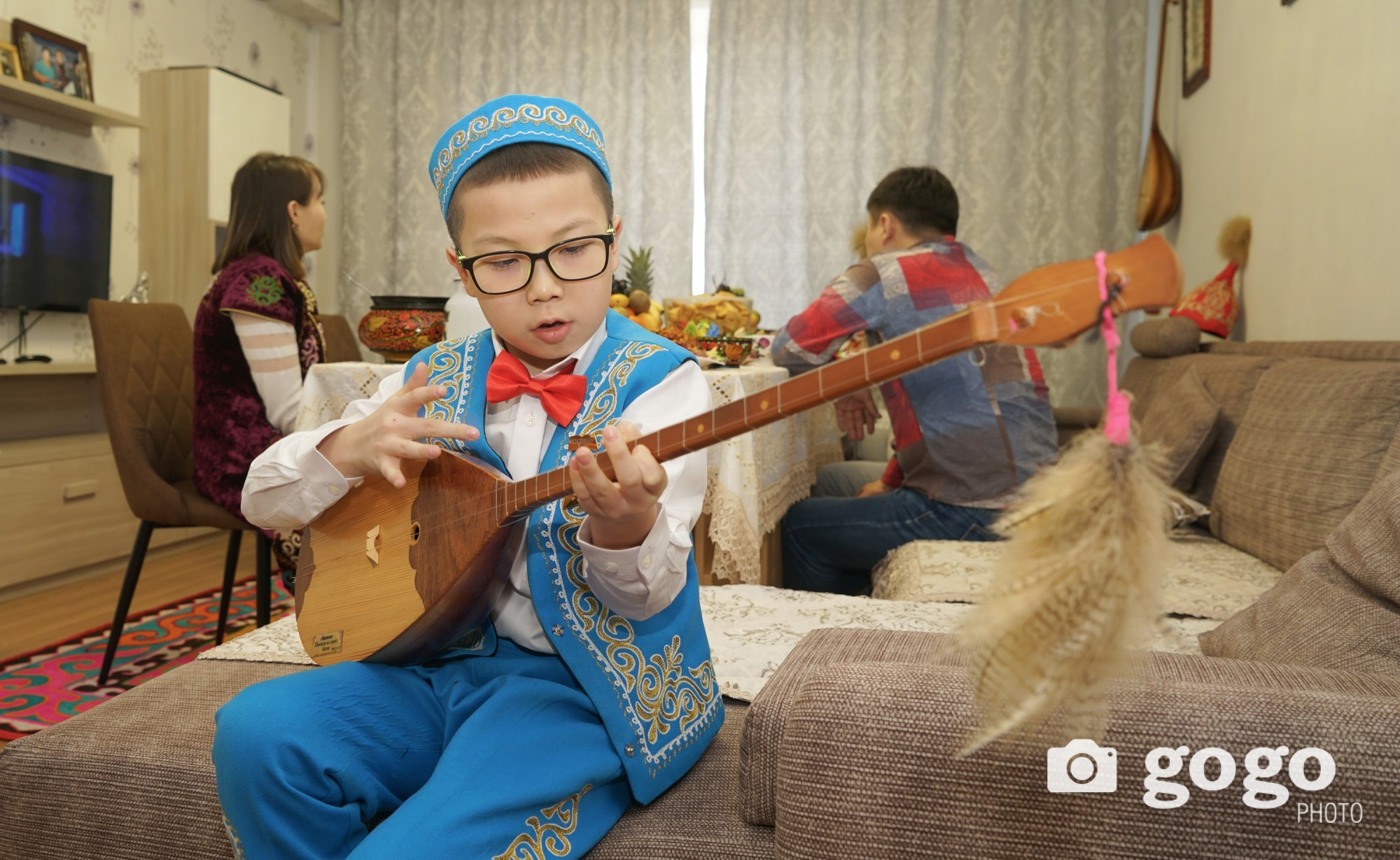 Dombor is a Kazakh`s national music instrument which must be played on Nawryz holiday. Every elders and children of Kazakh can play the Dombor.
